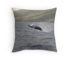 Tremendous Humpback Breach Throw Pillow