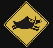 Beware of Wild Boars, Traffic Sign, Japan One Piece - Long Sleeve