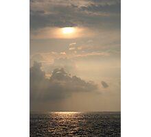 Hawaiian Water Sunset Photographic Print
