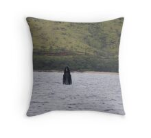 Humpback Juvenile Breach Throw Pillow
