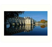 Chenonceau castle in autumn Art Print