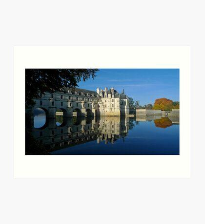 Chenonceau castle in autumn Art Print