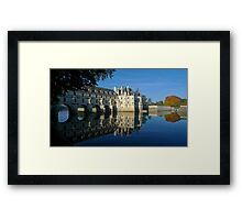 Chenonceau castle in autumn Framed Print