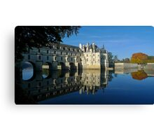 Chenonceau castle in autumn Canvas Print