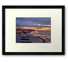Sunset on the Castle. Framed Print