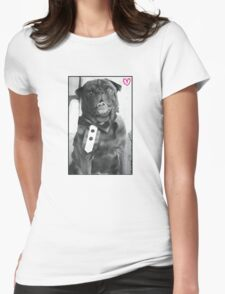 Smart looking Edgar (pewds dog) Womens Fitted T-Shirt