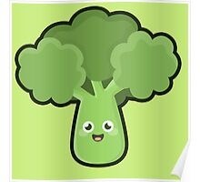 Kawaii Broccoli Poster