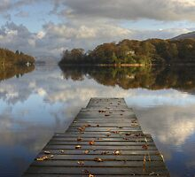 The Jetty In Autumn by Jamie  Green