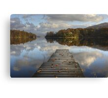 The Jetty In Autumn Canvas Print