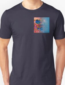 Serenity Prayer Blue Flowers 2 Unisex T-Shirt