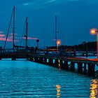 After Sunset at Pearson Park Wharf  by Chris  Randall