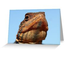 Tawny Crevice Dragon -Portrait Greeting Card