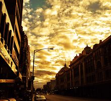 Golden sunrise by sebastian