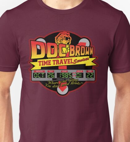 Doc E. Brown Time Travel Services Unisex T-Shirt