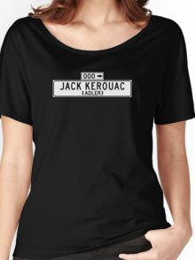 Jack Kerouac, San Francisco Street Sign Women's Relaxed Fit T-Shirt