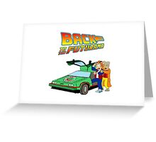 Back to the Future Futurama Greeting Card