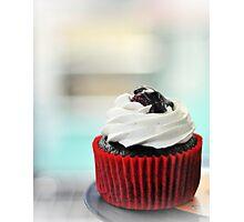 choc mud cupcake Photographic Print