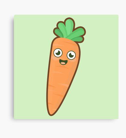 Kawaii Carrot Canvas Print