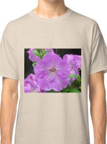 Petunias In The Rain Classic T-Shirt