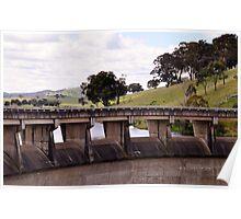 Wall at Carcoar Dam NSW Australia Poster