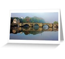 A Misty Morning In Cardigan Greeting Card
