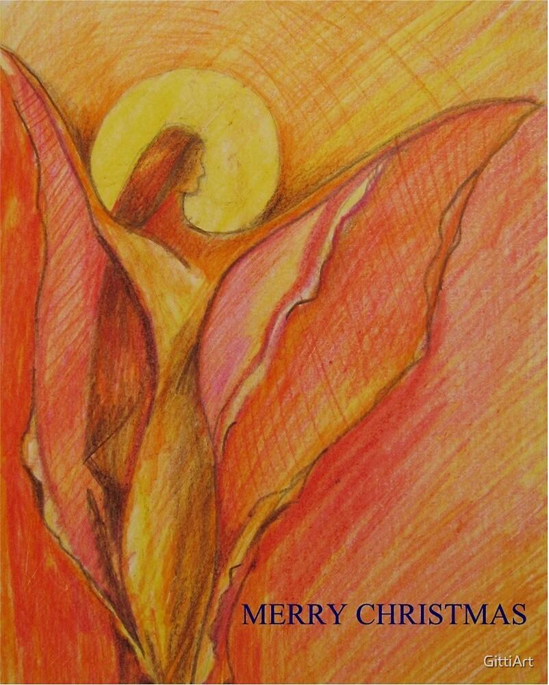 CHRISTMAS CARD by GittiArt