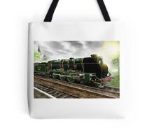 """Lord Nelson"" Antique Steam Locomotive [Digital Drawing] Tote Bag"