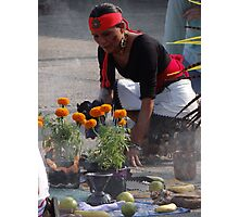Indian ceremony - All Souls' Day III Photographic Print