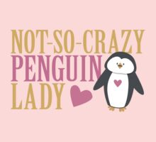 NO-SO-CRAZY penguin LADY Baby Tee