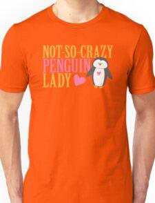 NO-SO-CRAZY penguin LADY Unisex T-Shirt