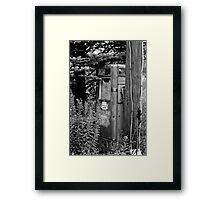 Got Gas? Black and White Framed Print