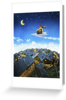 Paper Plane Pilot by Andrew & Mariya  Rovenko