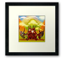 Pencil Dragons and Clouds Framed Print
