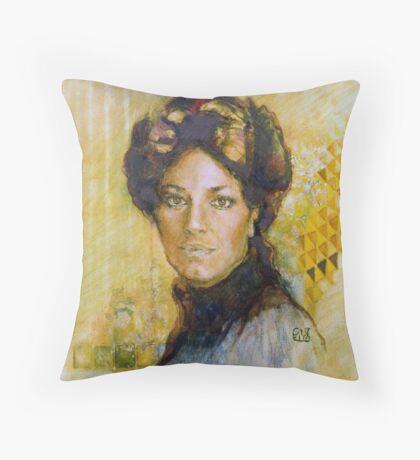 Mrs P Throw Pillow