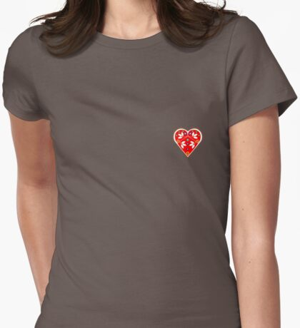 Folk Heart 1 Womens Fitted T-Shirt