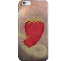 Strawberry swirls iphone case iPhone Case/Skin