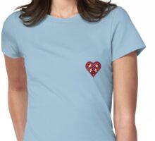 Folk Heart 2 Womens Fitted T-Shirt