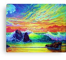 Red Skys in the Evening Canvas Print