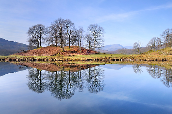 River Brathay Reflections, The Lake District, Cumbria by Dave Lawrance