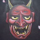 Hannya mask by debzandbex