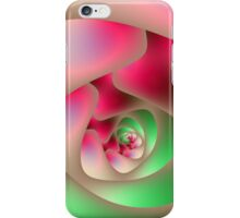 Spiral Labyrinth in Raspberry and Mint iPhone Case/Skin