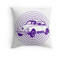 Purple Pop Art Beetle Throw Pillow