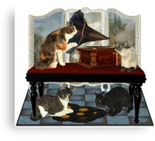 Musical Cats .. April Canvas Print