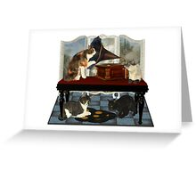 Musical Cats .. April Greeting Card