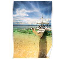 Bangka Sa Baybay Ng Dagat Poster