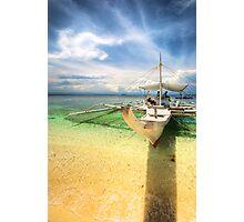 Bangka Sa Baybay Ng Dagat Photographic Print