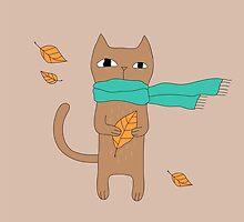 Autumn Cat by penarulit