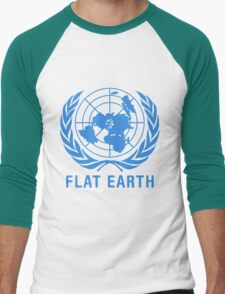 Flat Earth Men's Baseball ¾ T-Shirt