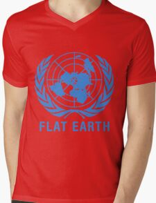 Flat Earth Mens V-Neck T-Shirt