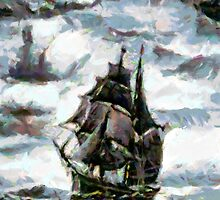 Sailing Ship iPhone Case by Dennis Melling